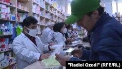 В одной из аптек города Душанбе