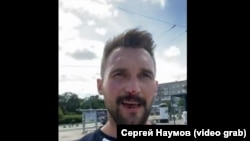 Координатор Открытой России Сергей Наумов после избиения