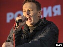 Navalnı Rus marşında çıxış edir, 4 noyabr, 2011