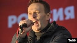 """Оппозиционер Алексей Навальный на """"Русском марше"""" 4 ноября 2011 года"""