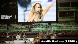 Azerbaijan -- American pop diva Jennifer Lopez performs at the opening ceremony of the FIFA U-17 Women's World Cup in Baku, 22Sep2012