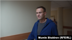 Алексей Навальный в Симоновском суде Москвы, 24 июля 2019 года
