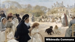 Альбэрт Эдэльфэльт, «Люксэмбурскі сад, Парыж» (1887).