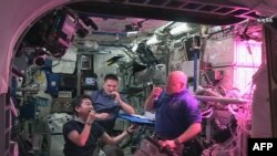 Kimiya Yui, Kjell Lindgren i Scott Kelly jedu salatu uzgojenu u orbiti