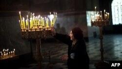 У праваслаўным храме ў Сафіі. Ілюстрацыйнае фота