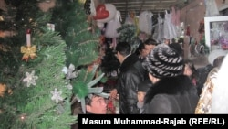Imitation pine forests at the Panjshanbe bazaar in Khujand on December 30