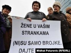 Jedan od protesta žena u BiH