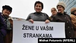 Mirni protest žena u Sarajevu