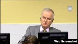 Ratko Mladić na suđenju u Hagu, 11. prosinac 2012.