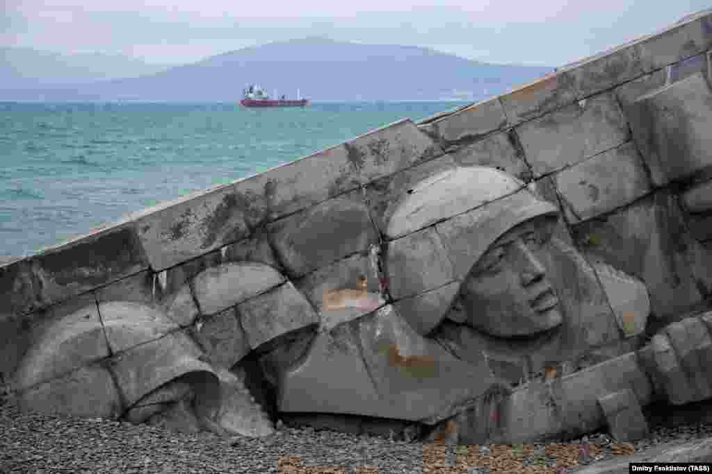 The Malaya Zemlya Memorial Museum in Novorossiysk, Russia, on November 29, 2019. Overlooking the Black Sea, the memorial pays tribute to Soviet troops who recaptured the position from German forces in February 1943.