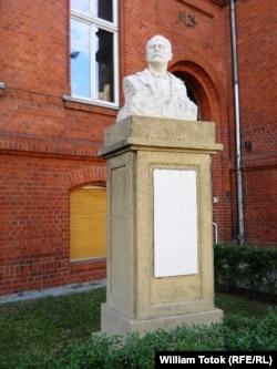 Bustul lui Ion Luca Caragiale din Berlinul de Est