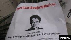 Praga, comemorarea lui Jan Palach, 16 ianuarie 2009.