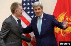 Держсекретар США Джон Керрі і міністр закордонних справ Чорногорії Ігор Луксіч