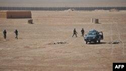 Pamje nga një stërvitje në bazën ushtarake amerikane Leatherneck në Afganistan