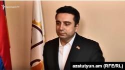 Депутат фракции «Елк» Ален Симонян, Ереван, 31 октября 2018 г.