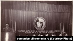 Întrunire tovărășească la Festivalul Tineretului, București, 1953. Sursa: comunismulinromania.ro