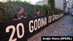Serebrenitsa qırğınını anım aksiyası