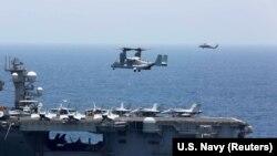 Американская военная техника в Персидском заливе. Май 2019 года.