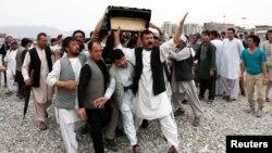 Теракттан курман болгон адамды жерге берүү учуру. Кабул. 24-июль, 2016-жыл