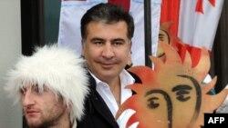 Gürcüstan prezidenti Micheil Saakashvili Tbilisidə mərasimə qatılarkən. 7 yanvar 2013.