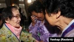 Зустріч корейських родин 20 серпня 2018 року. Більшість із них вже досягли похилого віку