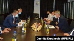 Ministar sigurnosti BiH Selmo Cikotić i gradonačelnik Bihaća Šuhret Fazlić, Bihać