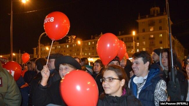 Митинг в поддержку Навального 7 октября в Казани