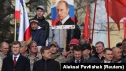 Симферополь шаарында өткөн жүрүш, 15-март 2019-жыл.
