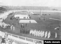 Парад зборных у 1908 годзе. Фота: Theodore Andrea Cook
