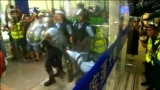 grab Protesters Clash With Police At Hong Kong Airport