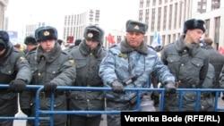 Декабрьский митинг на проспекте Сахарова в Москве