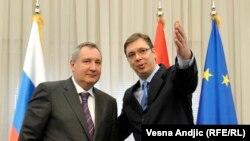 Vucic və Rogozin