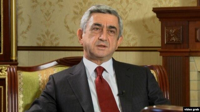 Armenian President Serzh Sarkisian is running again