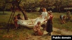 Фрэдэрык Морган, «Зьбіральнікі яблыкаў» (1880)