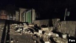 زمینلرزه در سیسخت. منبع: فارس