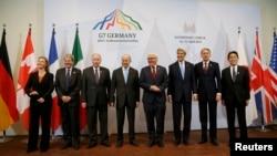 Учасники зустрічі в Любеку – голови зовнішньополітичних відомств країн «Групи семи» і Євросоюзу, 15 квітня 2015 року