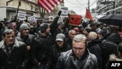 France's detention of Kosovo's former prime minister prompted protests in Pristina.