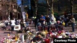 Бостондағы жарылыс болған жер. 1 мамыр 2013 жыл. Қарлығаш Жақиянова түсірген фото.