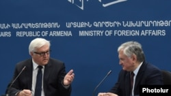 Armenia -- Armenian Foreign Minister Edward Nalbandian's and German's Foreign Minister Frank-Walter Steinmeier's joint press conference, 23Oct2014