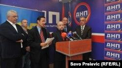 Predstavnici partija Rodina i Demokratski front, Podgorica