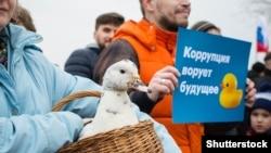 Антикоррупционная акция в Петербурге, 26 марта 2017 года (архивное фото)