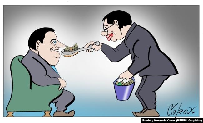 """Mezimče"", karikatura Predraga Koraksića Coraxa"