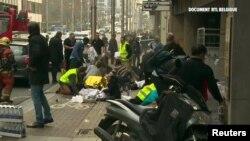 Метро станциясындағы жарылыстан жараланған адамдар. Брюссель, 22 наурыз 2016 жыл.
