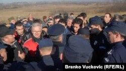 Blokada na Korman polju, Kragujevac 18. januar 2011.