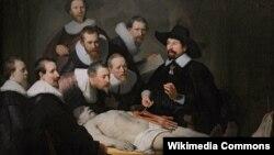 Картина Рембрандта «Урок анатомии доктора Тульпа»