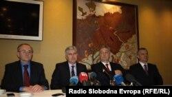 Lideri četvorke na konferenciji za novinare u Mostaru, 27. decembar 2012.