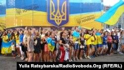 Під час відзначення Дня Незалежності у Дніпропетровську, 24 серпня 2014 року