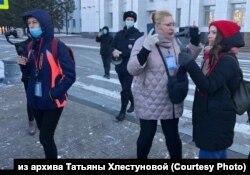 Журналисты, освещающие протесты в Хабаровске, январь 2020 года