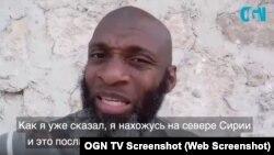 Корреспондент издания OGN TV Билял Абдул-Карим обращается к дагестанскому бойцу Хабибу Нурмагомедову
