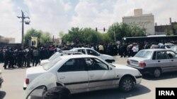 تجمع و راهپیمایی کشاورزان اصفهانی. عکس مربوط به روز دوشنبه است